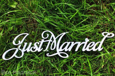 "Надпись ""Just Married"""